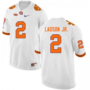 Mens NCAA #2 Frank Ladson Jr. Clemson Tigers College Football White Jersey 911977-264