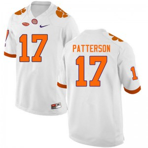 Mens NCAA #17 Kane Patterson Clemson Tigers College Football White Jersey 836049-606