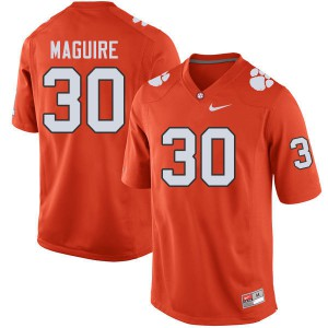 Mens NCAA #30 Keith Maguire Clemson Tigers College Football Orange Jersey 930066-726