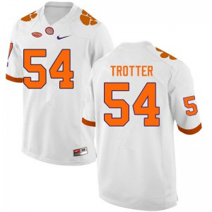 Mens NCAA #54 Mason Trotter Clemson Tigers College Football White Jersey 316098-883