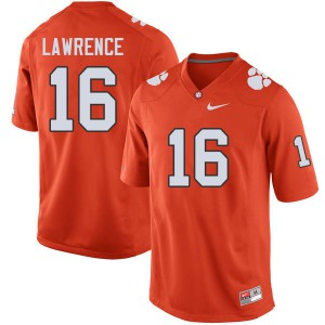 Mens NCAA #16 Trevor Lawrence Clemson Tigers College Football Orange Jersey 708380-932