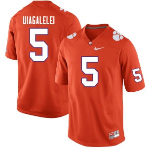 Mens NCAA #5 D.J. Uiagalelei Clemson Tigers College Football Orange Jersey 427688-259