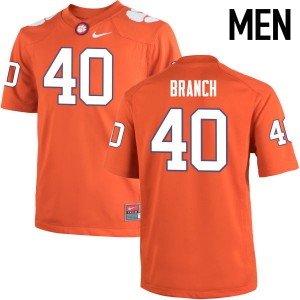 Mens NCAA Clemson Tigers #40 Andre Branch College Football Orange Jersey 274126-544