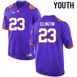Youth NCAA Clemson Tigers #23 Andre Ellington College Football Purple Jersey 608153-214