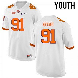 Youth NCAA Clemson Tigers #91 Austin Bryant College Football White Jersey 690331-358