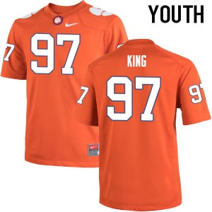 Youth NCAA Clemson Tigers #97 Carson King College Football Orange Jersey 638392-676