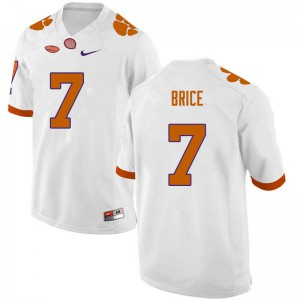 Mens NCAA #7 Chase Brice Clemson Tigers College Football White Jersey 503354-524