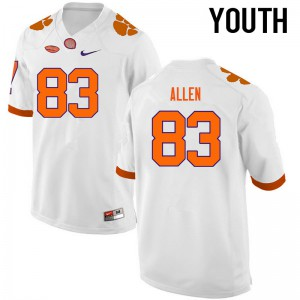 Youth NCAA Clemson Tigers #83 Dwayne Allen College Football White Jersey 347216-764