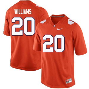 Mens NCAA #20 LeAnthony Williams Clemson Tigers College Football Orange Jersey 504039-579