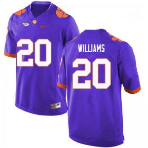 Mens NCAA #20 LeAnthony Williams Clemson Tigers College Football Purple Jersey 738559-578