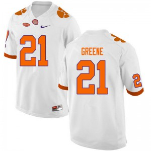 Mens NCAA #21 Malcolm Greene Clemson Tigers College Football White Jersey 931900-177
