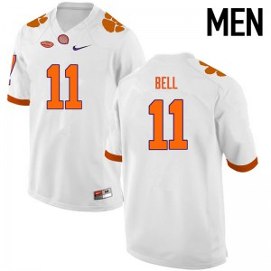 Mens NCAA Clemson Tigers #11 Shadell Bell College Football White Jersey 929804-428