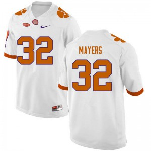 Mens NCAA #32 Sylvester Mayers Clemson Tigers College Football White Jersey 839752-658