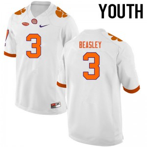 Youth NCAA Clemson Tigers #3 Vic Beasley College Football White Jersey 980267-427