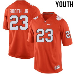 Youth NCAA #23 Andrew Booth Jr. Clemson Tigers College Football Orange Jersey 446859-840