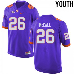 Youth NCAA #26 Jack McCall Clemson Tigers College Football Purple Jersey 232078-645