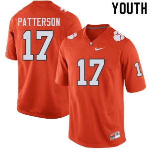 Youth NCAA #17 Kane Patterson Clemson Tigers College Football Orange Jersey 345241-852