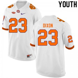 Youth NCAA #23 Lyn-J Dixon Clemson Tigers College Football White Jersey 794621-145