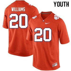 Youth NCAA #20 LeAnthony Williams Clemson Tigers College Football Orange Jersey 728583-264