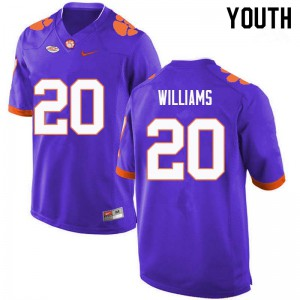 Youth NCAA #20 LeAnthony Williams Clemson Tigers College Football Purple Jersey 121655-442