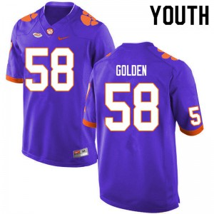 Youth NCAA #58 Maddie Golden Clemson Tigers College Football Purple Jersey 167613-300