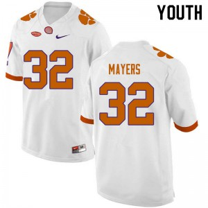 Youth NCAA #32 Sylvester Mayers Clemson Tigers College Football White Jersey 466673-536