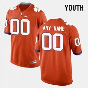 Youth Clemson Tigers #00 Custom College Limited Football Orange Jersey 790970-655