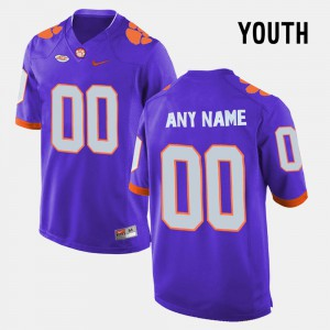 Youth Clemson Tigers #00 Custom College Limited Football Purple Jersey 208150-260